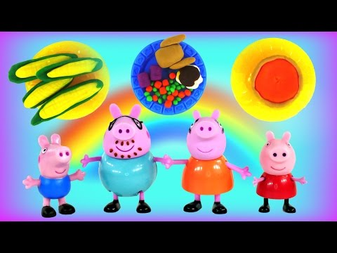 Peppa Pig Happy Thanksgiving Play Doh Feast - Peppa's Holiday Meal Using Playdough By Dctc video