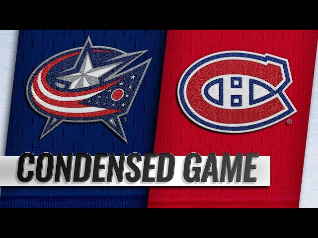 021919 Condensed Game Blue Jackets  Canadiens