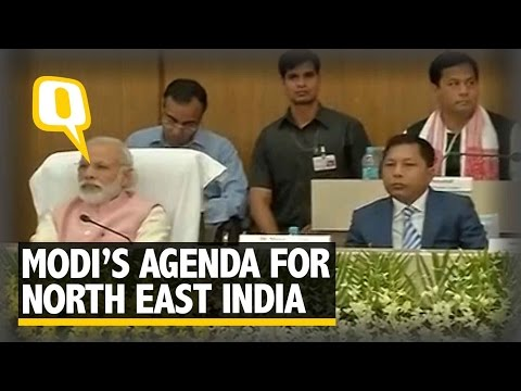 The Quint: Narendra Modi addresses Chief Ministers of North East