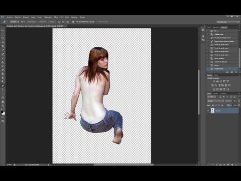 Recortar imagen con herramienta pluma photoshop cs6
