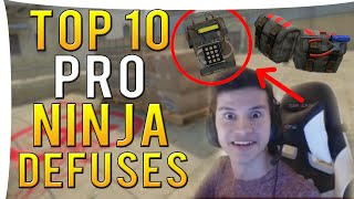 CS:GO - TOP 10 PRO NINJA DEFUSES I Episode 1 I ft. Snax,Taco &More!