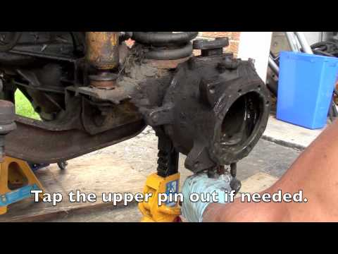 Toyota front knuckle. hub. and brake service overhaul Video #1 Removal.