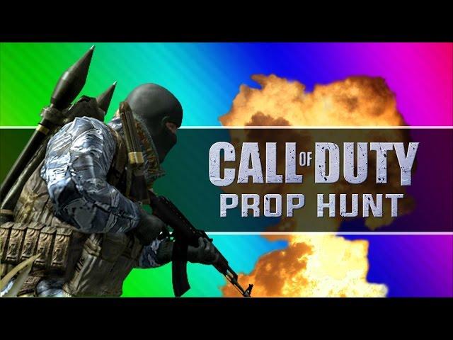Call of Duty 4: Prop Hunt Funny Moments - Death Scream, Ta-Dah, Shopping Carts! (CoD4 Mod)