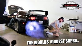 Scaring TJ HUNT In The Worlds LOUDEST Supra!