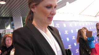 Amy Morton signing autographs at Bluebird screening