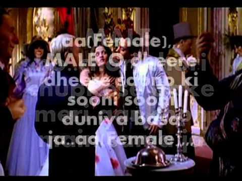 Chori Chori Chupke Se Aake-karaoke(audacity) & Lyrics-lucky video