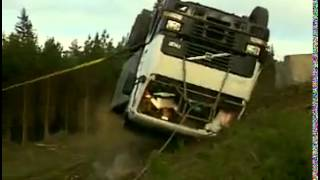 Volvo truck rolled over test