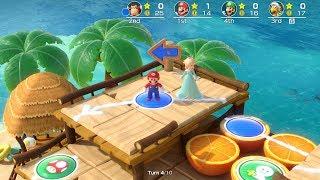 Super Mario Party Megafruit Paradise #17 Mario vs Luigi vs Donkey Kong vs Hammer Bro