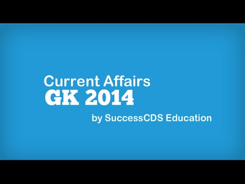 GK and Current Affairs Questions - Update your General Knowledge (Sept 2014)