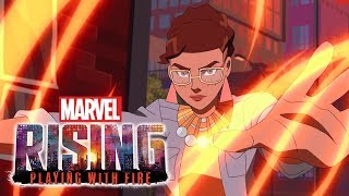 Behind the Scenes of Marvel Rising: Playing With Fire!