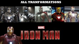 Iron man all TRANSFORMATIONS in movies -  [ All transformations ]