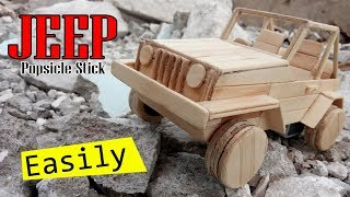 TUTORIAL | Mobil JEEP | Popsicle Stick | STIK HANDCRAFT