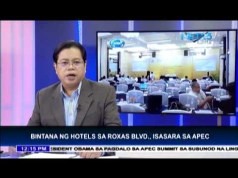Hotels ordered to close windows during APEC summit