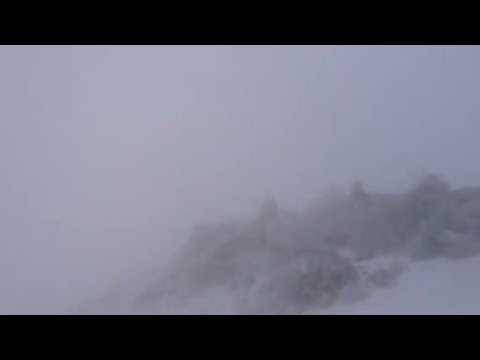Blizzard conditions. Snowboarding in Japan. Mt Zao and The