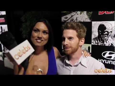 Seth Green and wife Clare Grant at Comic Con's Walking Dead Party - a Celebs.com Original