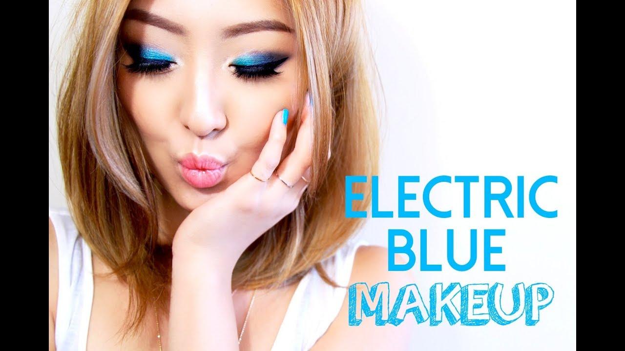 Fashionista804 Makeup Tutorial ELECTRIC BLUE MAKEUP TUTORIAL
