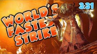 WORLD'S FASTEST STRIKE! [3:31] Strange Terrain (Destiny 2 Warmind DLC)