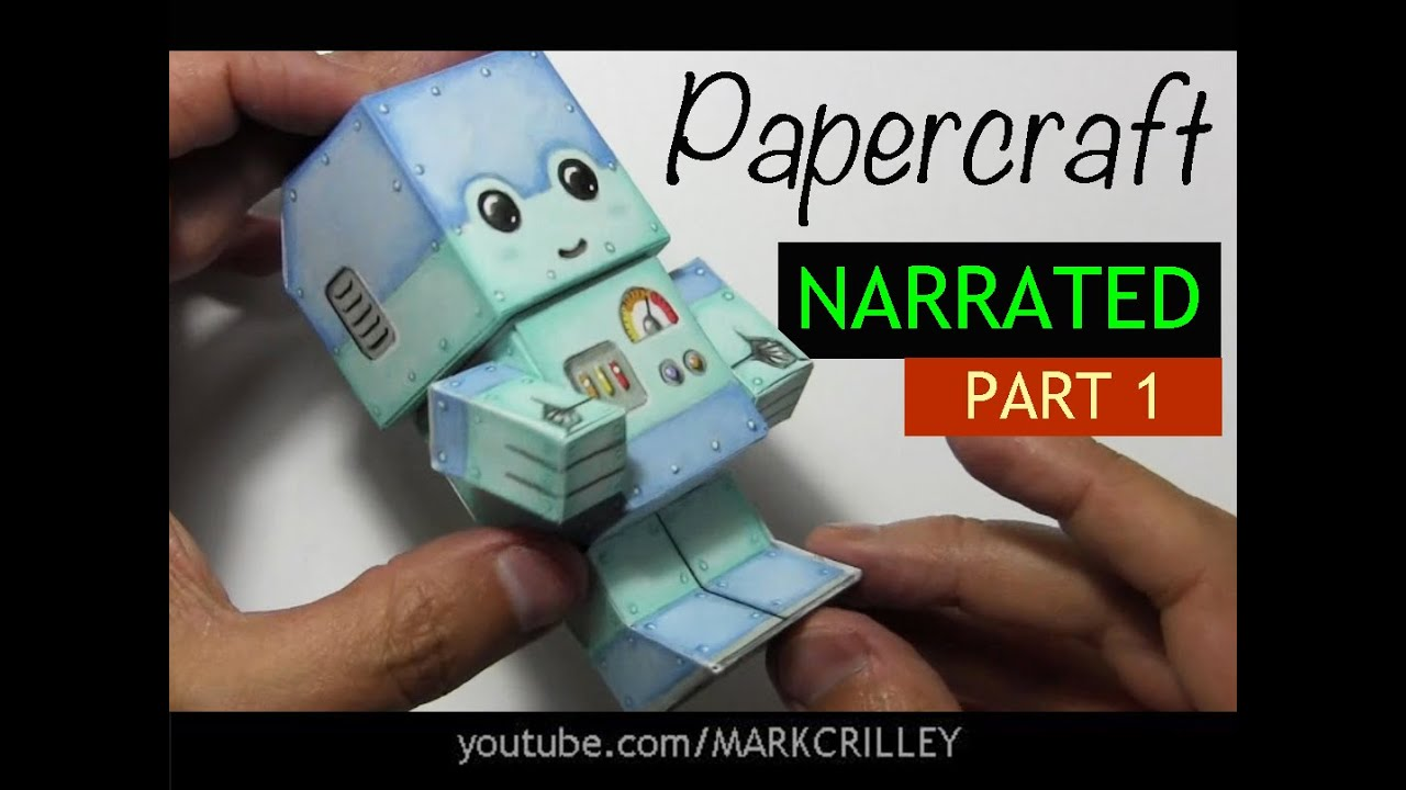 How to Make a Paper Craft Chibi Robot: PART 1 - YouTube