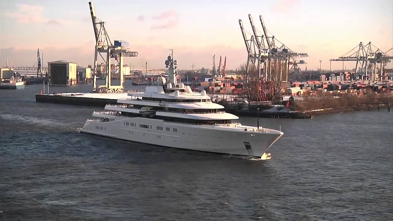 Abramowitsch Yacht Eclipse Verlsst Hamburg YouTube