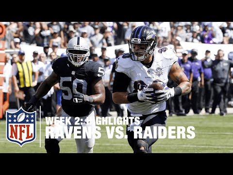Ravens Vs Raiders Week 2 Highlights Nfl