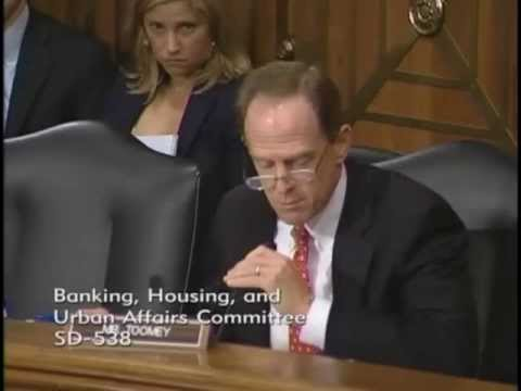 Sen. Toomey Questions Federal Reserve Chairman Bernanke at Senate Finance Committee hearing