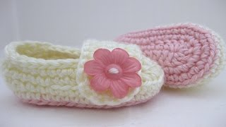 Crochet Baby Booties Pattern 3-6 Months