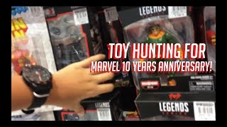 Quick Toy Hunt for Marvel 10 Years Anniversary Legends! SEPTEMBER TOY HUNT