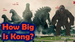 How Big is Kong of Skull Island? Will he Grow for Godzilla vs King Kong?