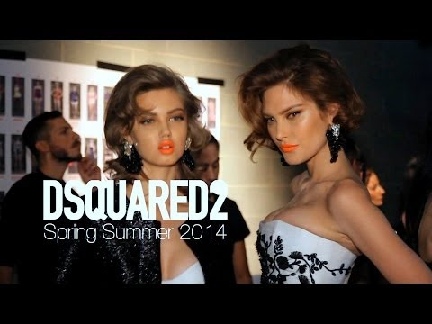 DSQUARED2 Spring 2014 Backstage ft Lindsey Wixson, Catherine McNeil | MODTV