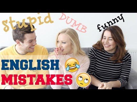 STUPID English mistakes   Native English Speakers Funny Language Mistake Stories