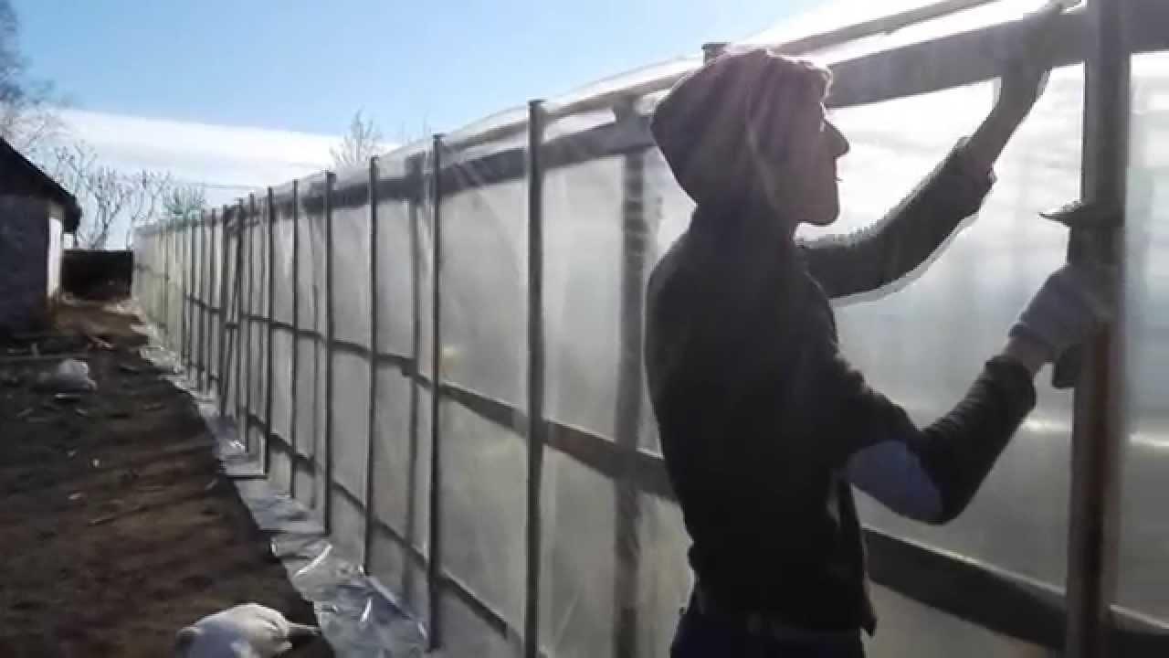 Как построить теплицу своими руками изоражения