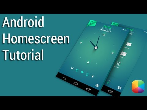 simple clock by ryantblake   android homescreen tutorial