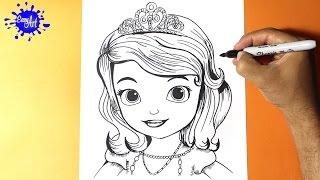 Como Dibujar la Princesita Sofia l How to Draw the Princess Sofia - Como Dibujar una Princesa