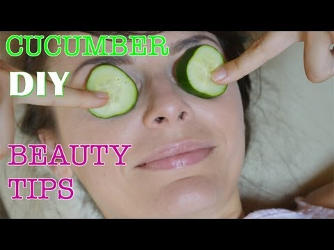 DIY Cucumber Beauty TIPS: Puffy Eyes Remedy / Whitening Mask for Acne Scars / Refreshing Scrub