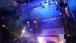 Trapeze performance at Circus Vargas in San Luis Obispo at the Madonna Inn