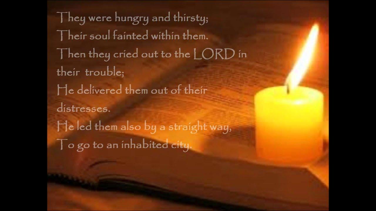 Daily Bread: Psalm 107:1-9 (NASB) - YouTube