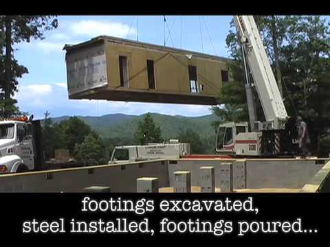 Setting a modular home in Brevard, NC!