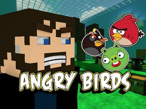 Minecraft Angry Birds - Pigs Don't Stand a Chance!