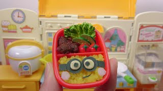 Mini Food! Minion Bento(Box Lunch) Cooking toys Konapun