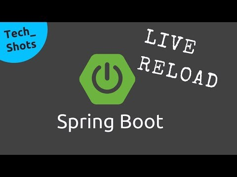 Live Reload in Spring Boot App | Spring Boot Dev Tools | Tech Shots