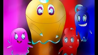 (SpeedPaint) Pac-man - Blinky Inky Pinky Clyde True Colors