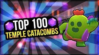 Top 100 Gem Grab Gameplay! Temple Catacombs OP Team Comp [Brawl Stars]