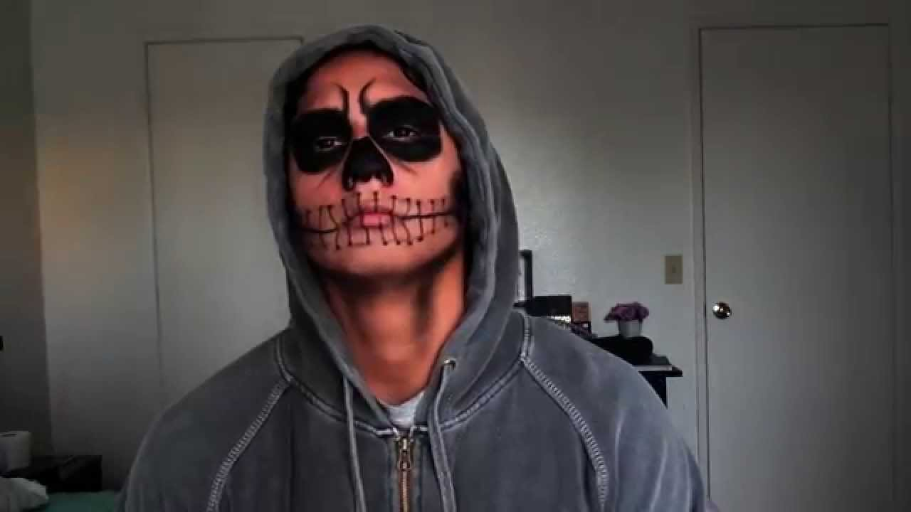 Halloween Men Makeup: Natural Skull  YouTube - Best Halloween Makeup For Men