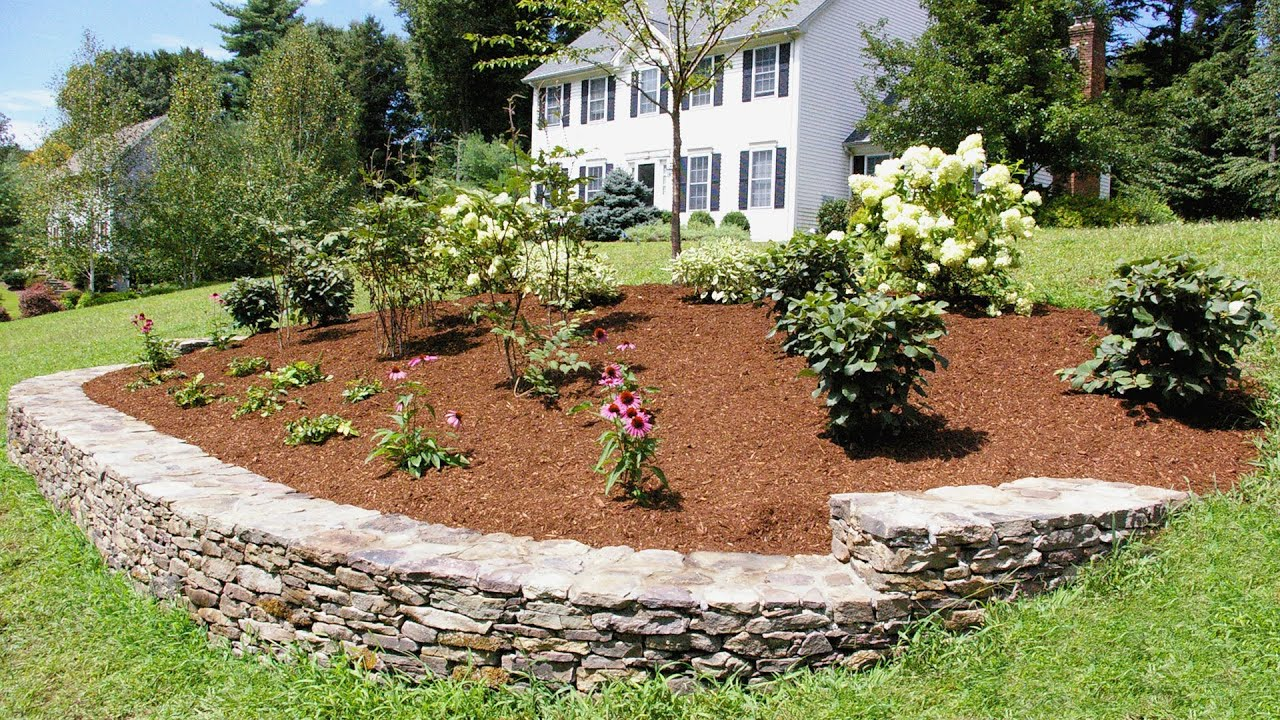 Landscaping Ideas For A Front Yard A Berm For Curb Appeal