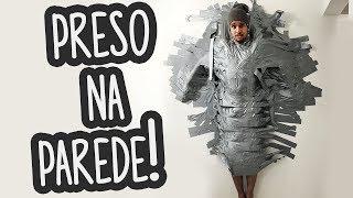 FIQUEI PRESO NA PAREDE DE CASA COM SILVER TAPE! (ME MACHUQUEI)