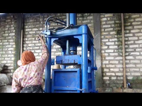 Mesin pres botol plastik air meneral ukuran 80x60