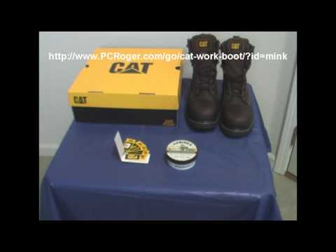 Caterpillar Work Boots - Protect Your Safety Shoe Investment With Mink Oil