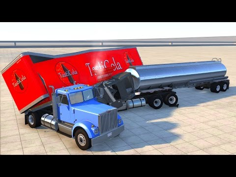BeamNG UPDATE 0.7 - New Trailer - Crash Testing.