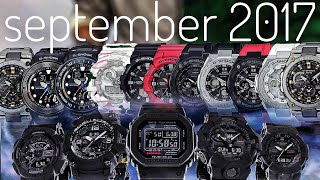 Casio G-Shock Japan SEPTEMBER 2017 new releases | thoughts & first impressions