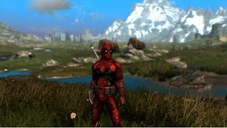 Deadpool Costume Mod for Skyrim - Wait till you get a load of me